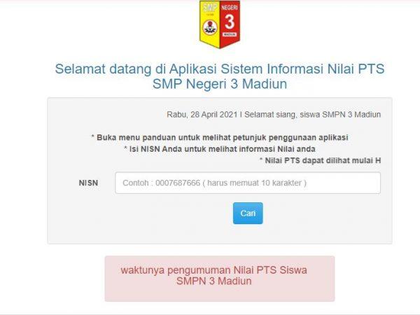 NILAI PTS SEMESTER 2 TAHUN PELAJARAN 2020/2021
